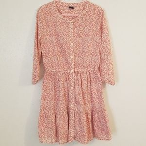 Gap Girls Pink Floral Dress Size M